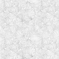 pour un décor alterné avec ce motif de feuilles de ginkgo gris en décalcomanie