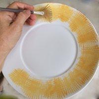 Le pinceau éventail édenté
