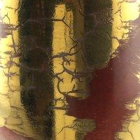 un superbe effet d'or craquelé avec ce simili incrustation N°6